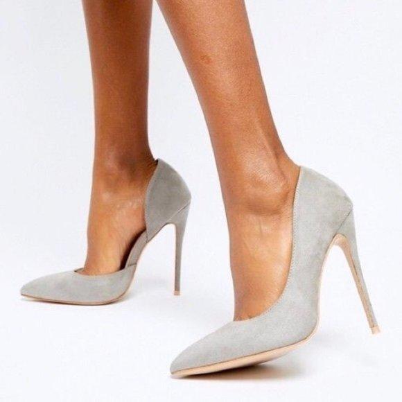 Steve Madden Felicity Suede d'Orsay Pump Heels - 6